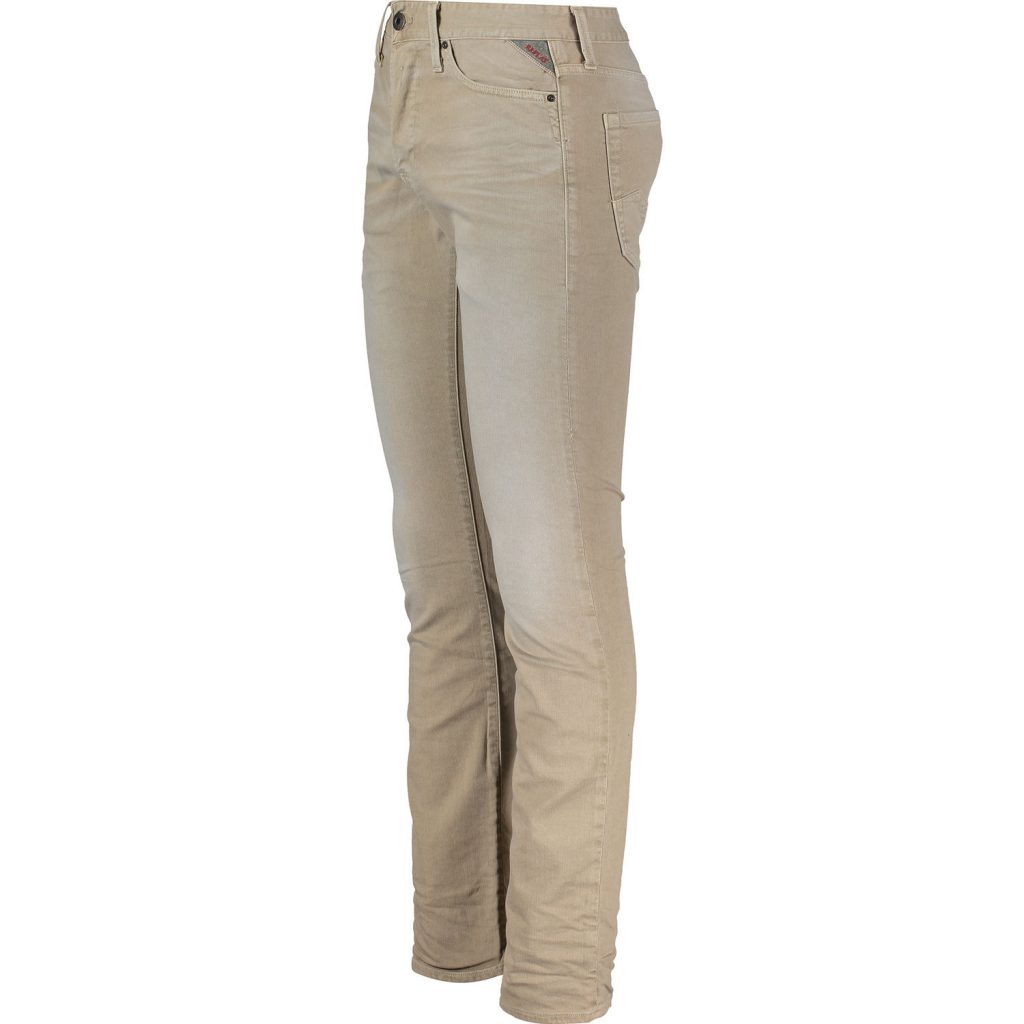 Beige Regular Slim Fit Jeans