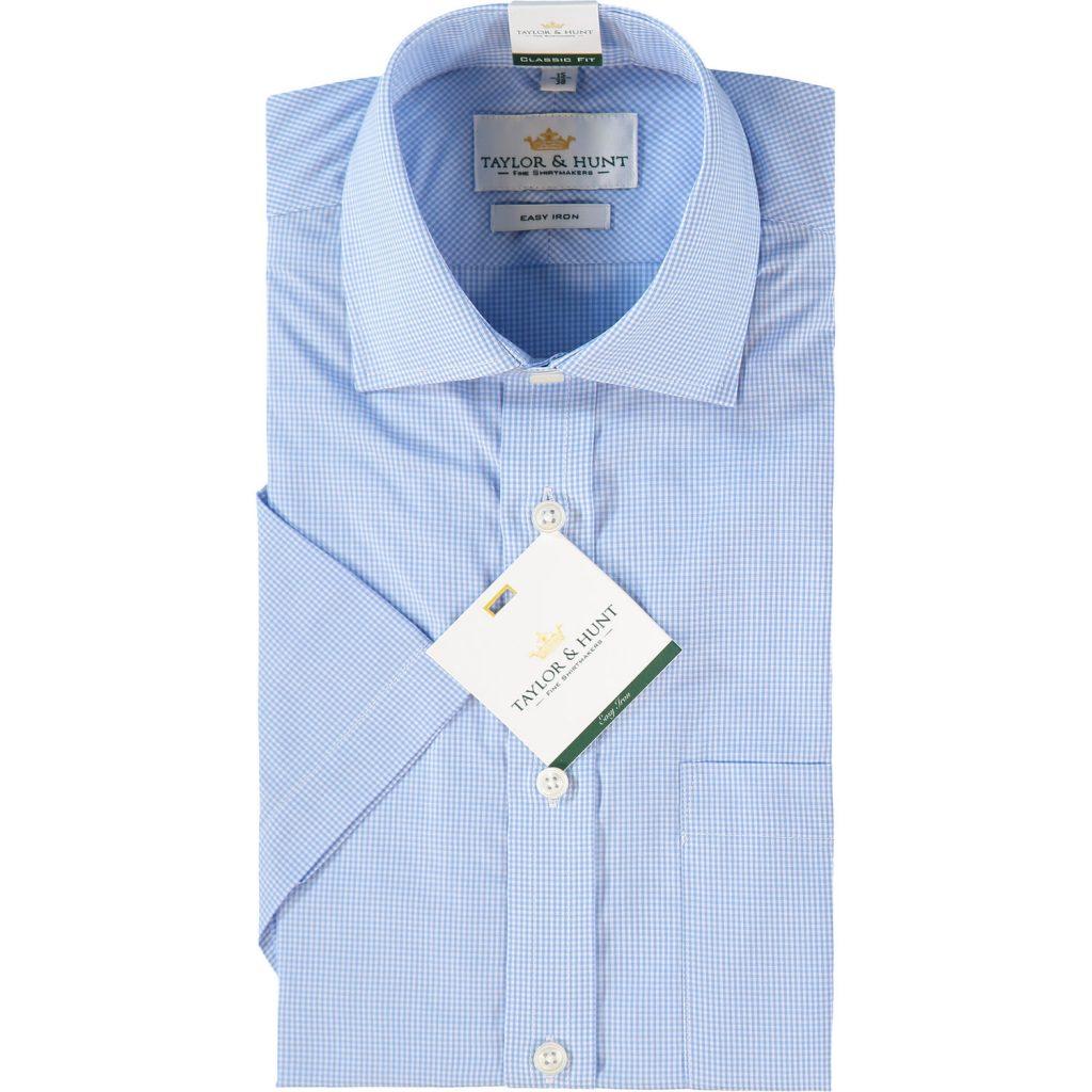 Blue Classic Fit Gingham Pattern Shirt